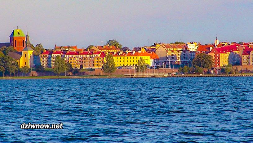 Kamień Pomorski panorama miasta