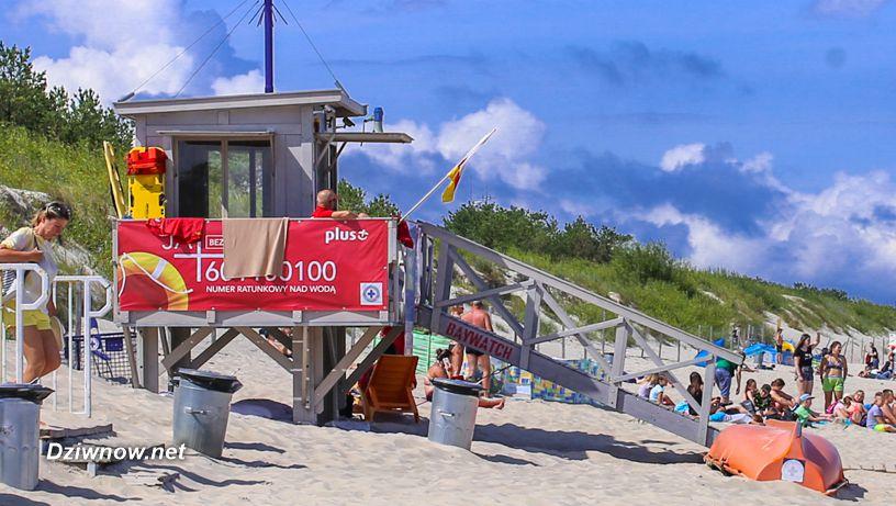Bezpieczna kąpiel na plażach w Dziwnowie.
